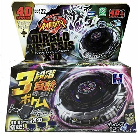 DIABLO NEMESIS BEYBLADE 4D TOP METAL FUSION FIGHT MASTER NEW + ...