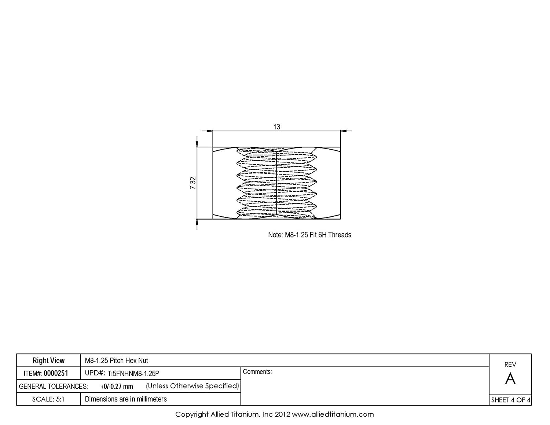 Premium Aparoli SJA 67524/QP DIN 933/Hexagonal Screws with Thread up to Head A4/65/Pack of 5/Quality