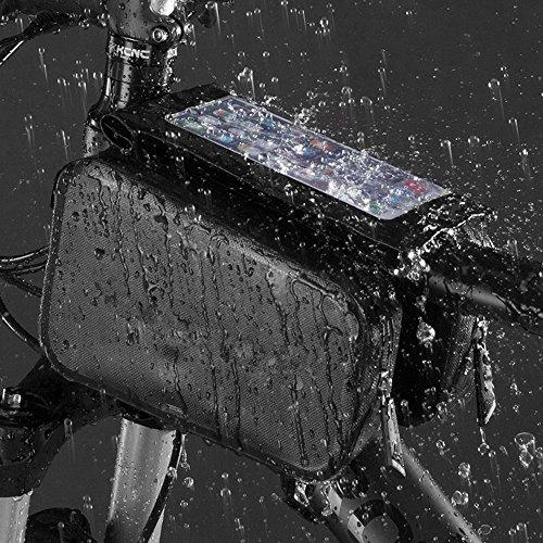 Radfahren Gepäckträgertaschen Fahrrad Rahmentasche Kopf Rohr Tasche Rucksäcke Taschen Spielfeld wasserdicht regendicht