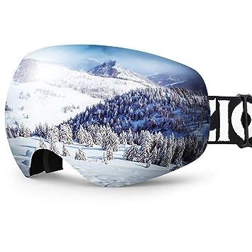 f1e8aefba5b ZIONOR X10 Ski Snowboard Snow Goggles OTG for Men Women Youth Anti-Fog UV  Protection Helmet Compatible  Amazon.ca  Sports   Outdoors