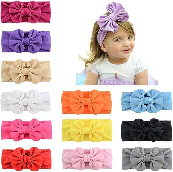 Bébé Serre-tête élastique Mignon Enfants Tricot Coton Turban Coiffure Accessoires