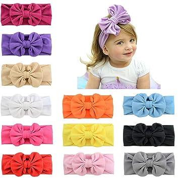 Haarschmuck Kleidung, Schuhe & Accessoires Baby Mädchen niedlich Bowknot dehnbar Turban Nylon Haarband Haar Band Headwrap