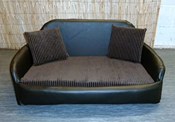 Admirable Zippy Faux Leather Sofa Dog Bed Large Black Brown Jumbo Machost Co Dining Chair Design Ideas Machostcouk