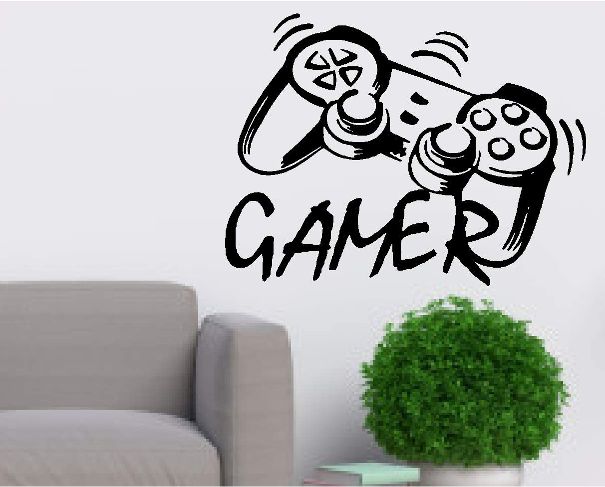 Video Game Wall Decals Controller Wall Mural Boys Room Kids Playstation Decor Gamer Vinyl Wall - Car, Laptop,Wall Room (Designs # 11)