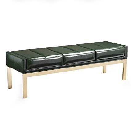 Amazing Amazon Com Furniture Hotspot Faux Leather Tufted Bench Gamerscity Chair Design For Home Gamerscityorg