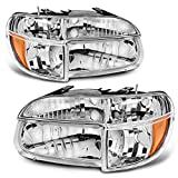 Headlights Assembly OE Style Replacement Direct Fit for 95-01 Ford Explorer/Mountaineer Chrome Housing + Corner Lights,1 Year Warranty