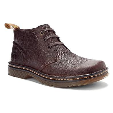 Dr Martens Mens Dark Brown Boots Sussex 3 Eye Chukka Bear Track