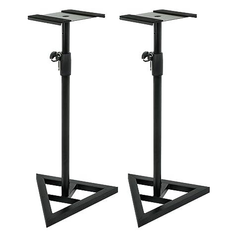 ZENY Pair Of Studio Monitor Speaker Stands Height Adjustable Concert Band DJ Floor W