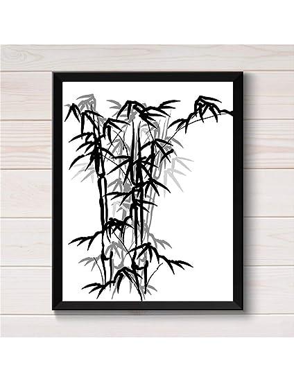 Xhhh Affiche Mur Art Affiche Peinture Noir Blanc Encre De