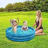 Jambo Sea Blue Inflatable Kiddie Pool   48 x 10