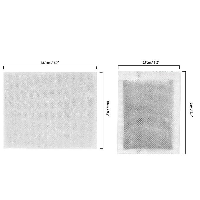 Parches de Pies Detox (100 Pcs) - 12.1x10cm Hojas Adhesivas 5.8x7cm y Parches de Pies para Pies Purificación