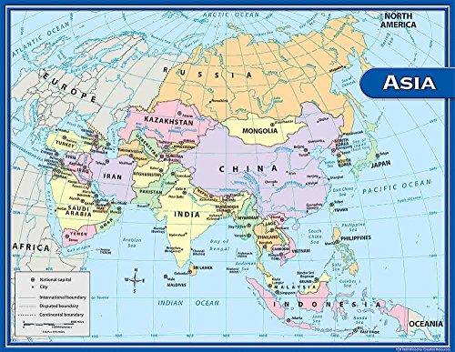 Teacher created resources asia map chart multi color 7652 buy teacher created resources asia map chart multi color 7652 buy online in uae office product products in the uae see prices reviews and free gumiabroncs Images