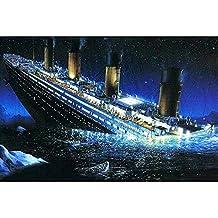 "Full Drill 5D DIY Diamond Painting ""Titanic"" 3D Embroidery set Cross Stitch Mosaic Decor gift"