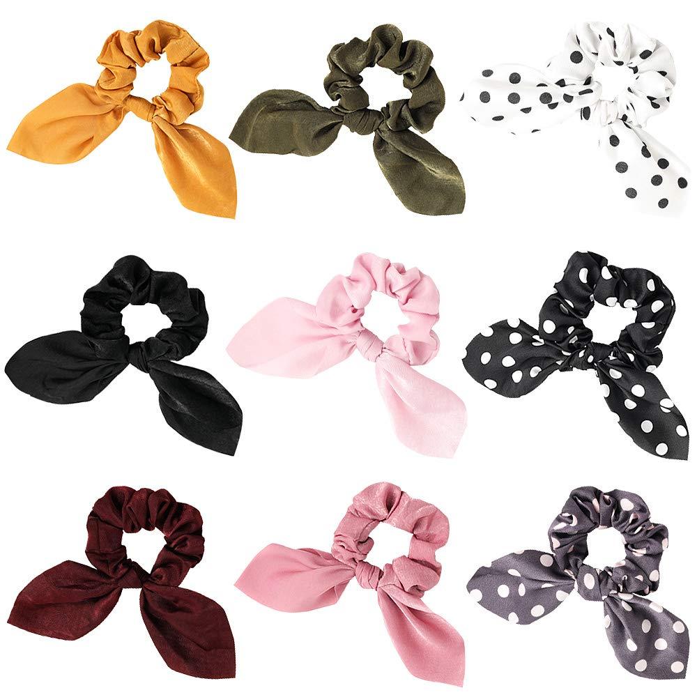 HEFESTISS STUDIO Handmade satin XL scrunchie with ribbon in Olive