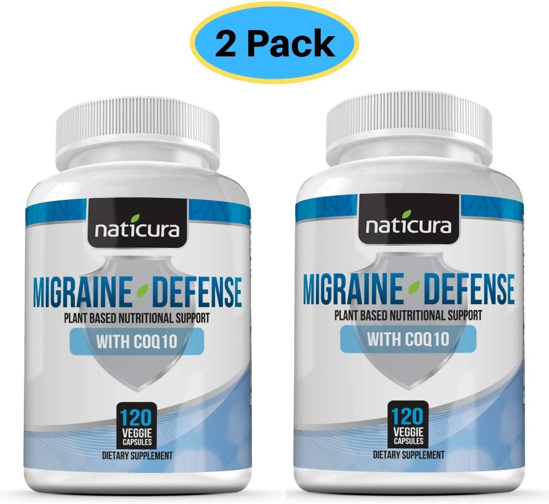 Migraine Relief Headache Vitamin Supplement - Neurologist Recommended to Help Prevent Pain, Nausea, Sensitivity and Auras from Tension and Chronic Strain (2 Pack)