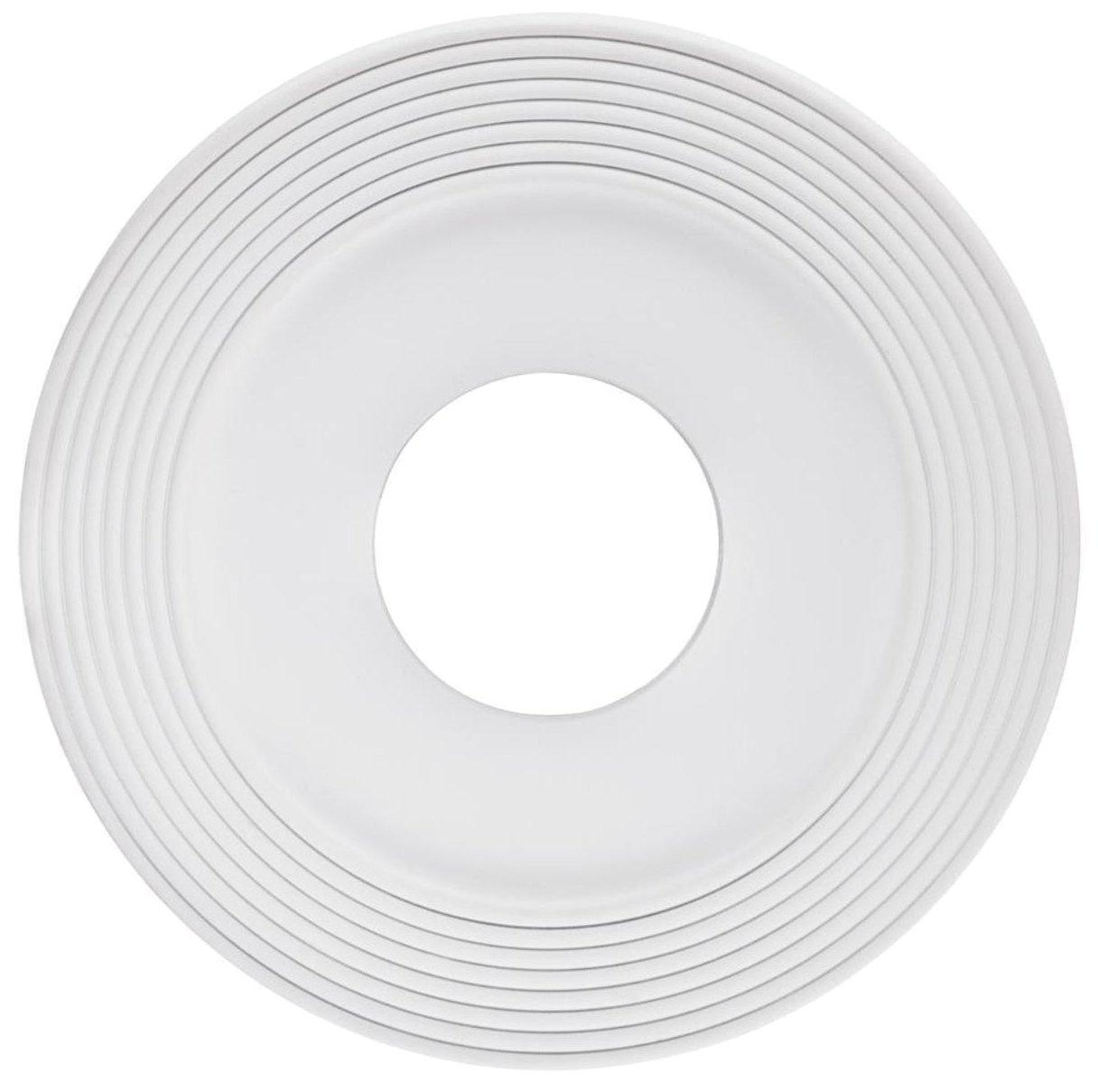 Westinghouse 7771200 12-Inch White Finish Saturn Ceiling Medallion