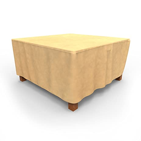 Budge All Seasons Square Patio Table Cover, Large (Tan)