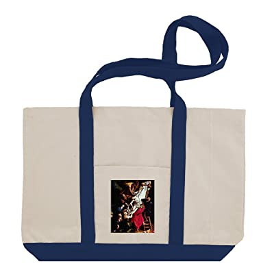 Descent From Cross Mid Panel (Rubens) Cotton Canvas Boat Tote Bag Tote
