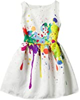 21KIDS Creative Art Colorful Print Summer Girls Casual Dress Size 6-12