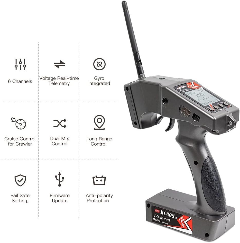 Radiolink RC6GS V2 2.4G 6 Channels RC Transmitter and Receiver R7FG Gyro RX Volt Telemetry Long Range, Surface Radio Controller for RC Car Boat Crawler Truck Buggy: Radiolink manufacturer: Toys & Games