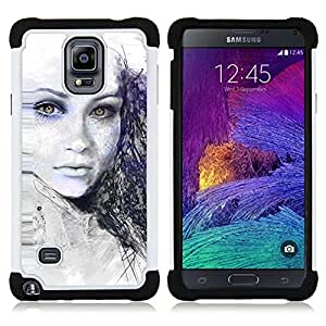- Painted Girl/ H??brido 3in1 Deluxe Impreso duro Soft Alto Impacto caja de la armadura Defender - SHIMIN CAO - For Samsung Galaxy Note 4 SM-N910 N910