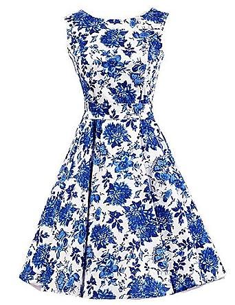 d5ac7c31469 ELECTROPRIME Women s Blue Floral Dress