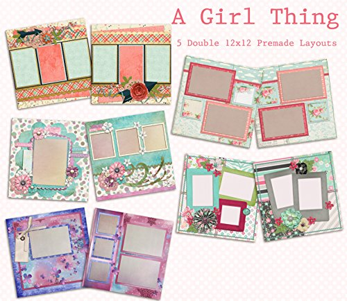 A Girl Thing Scrapbook Kit - 5 Double Page Layouts