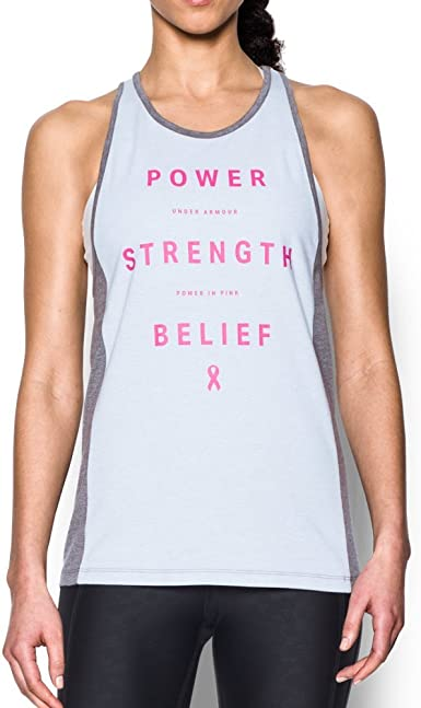Under Armour Womens Power In Pink Inset Tank