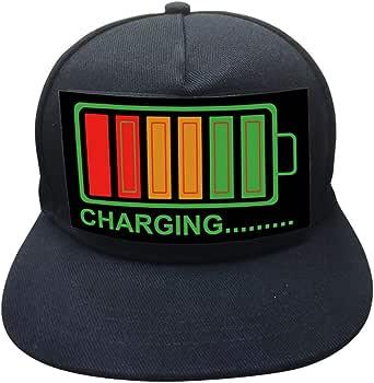 Yamer DJ LED Flashing Hat Sound Activado Party Rave Light Up Hat Cap para Disfraz de música de Halloween