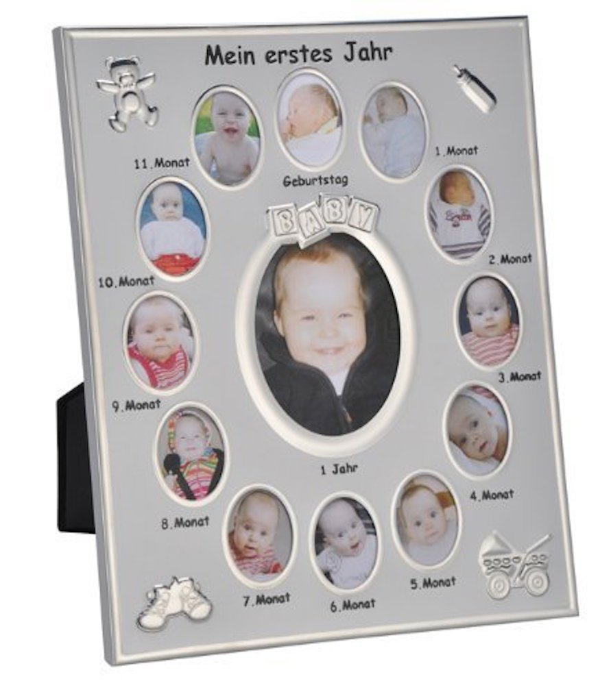 Bilderrahmen Mein erstes Jahr Baby Fotos Bilder Alurahmen 25x30cm ...
