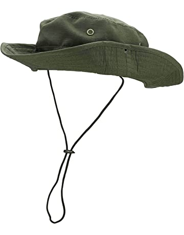 FALETO Outdoor Boonie Hat Wide Brim Breathable Safari Fishing Hats UV  Protection Foldable Military Cap 342d77c0f3ac