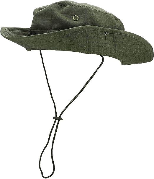 Men Women Bush Hat Sun Fishing Caps Cotton Army Outdoor Safari UV Protection