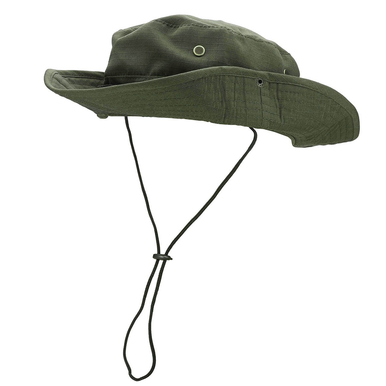 0c517a37632 Amazon.com  FALETO Outdoor Boonie Hat Wide Brim Breathable Safari Fishing  Hats UV Protection Foldable Military Cap  Clothing