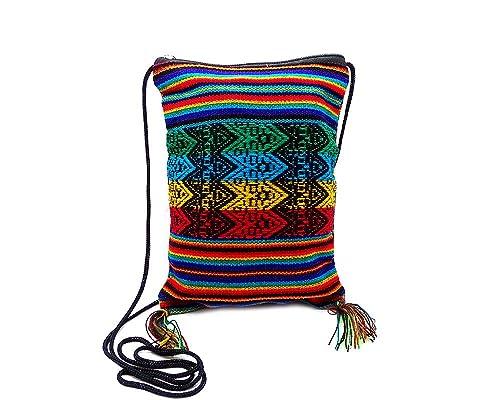 Bolso de viaje pequeño con diseño de rayas tribales de ...