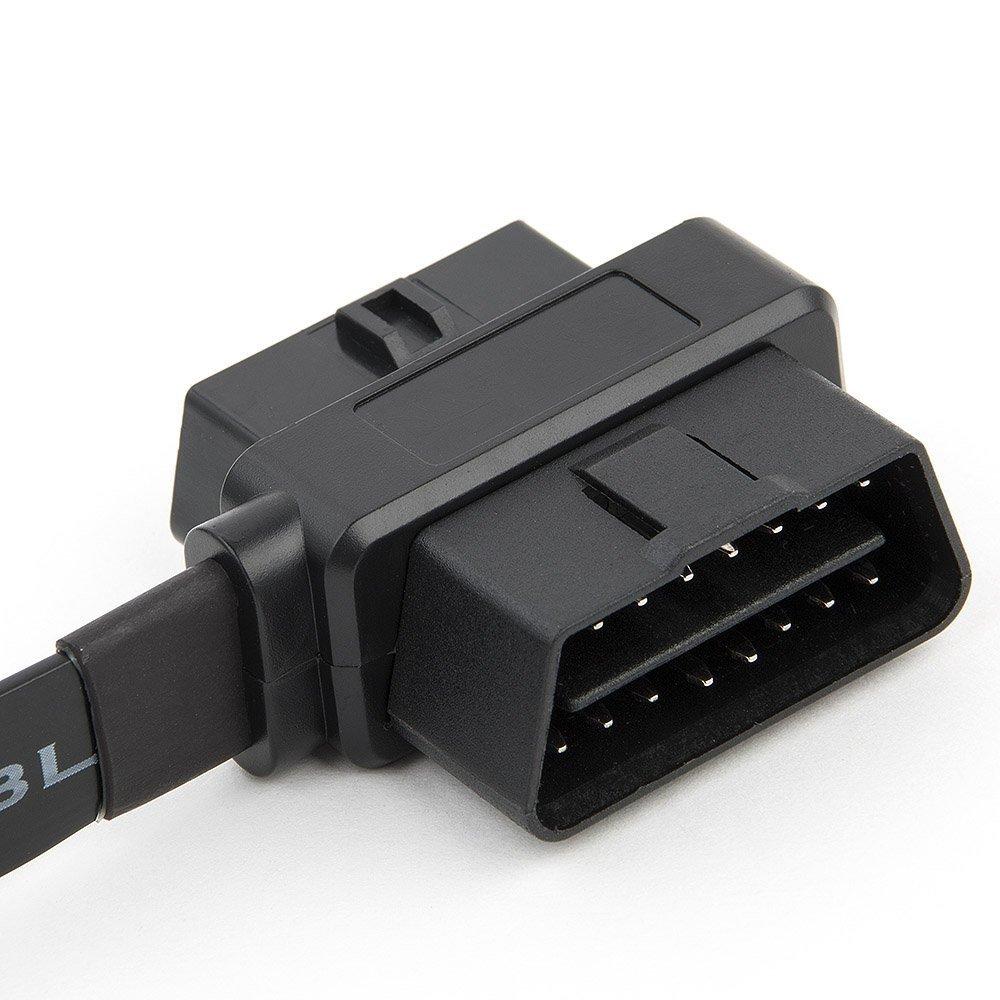 ultrad/ünnes 2-in-1-Kabel,/16-polige Buchse auf OBD II-Stecker-Verl/ängerungsstecker//-Kabelsplitter Fireangels