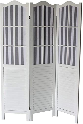 Milton Greens Stars 3-Panel Room Divider, White