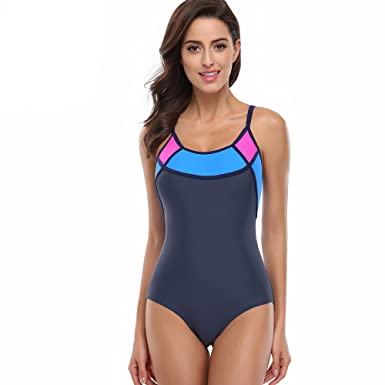ad0692851a0 Image Unavailable. Image not available for. Color: Sports One Piece  Swimsuit Swimwear Women Sexy Backless Bodysuits Swim maillot de bain Bathing  Suits ...