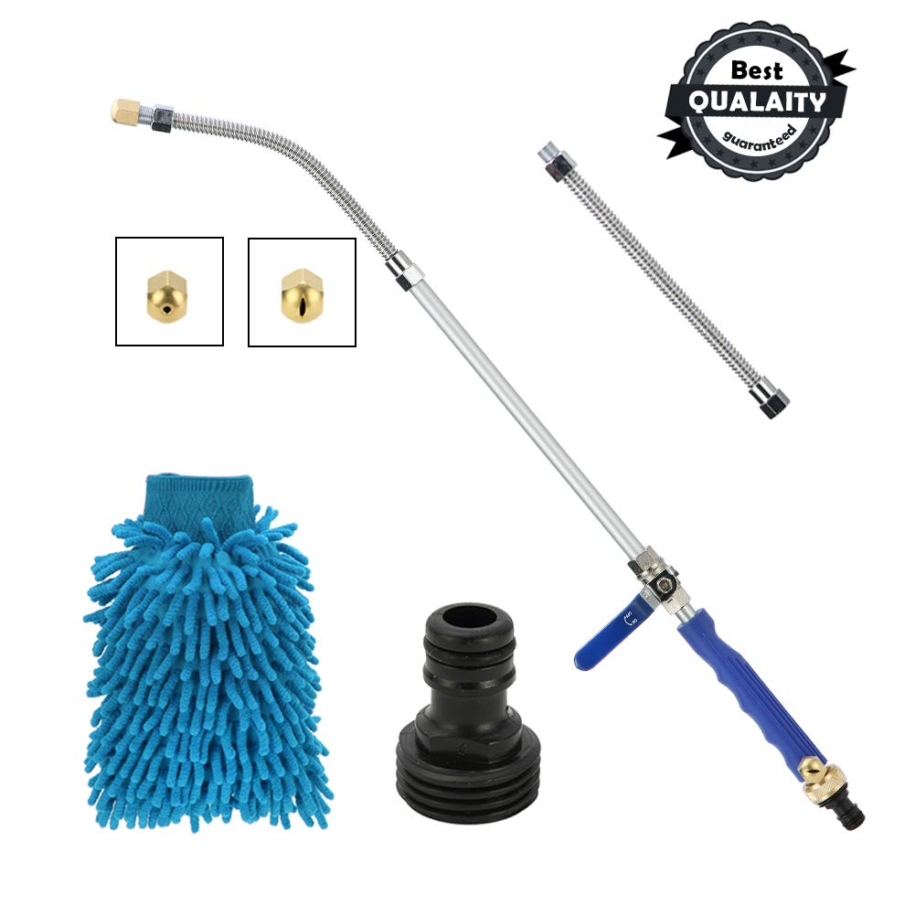 Cszxx Hydro Jet Power Washer Hose Nozzle - Deep Jet Magic Power Car Washer and Window Washer Pressure Garden Spray Wand with 2 Tips, a Free Scrubbing Mitt by Cszxx