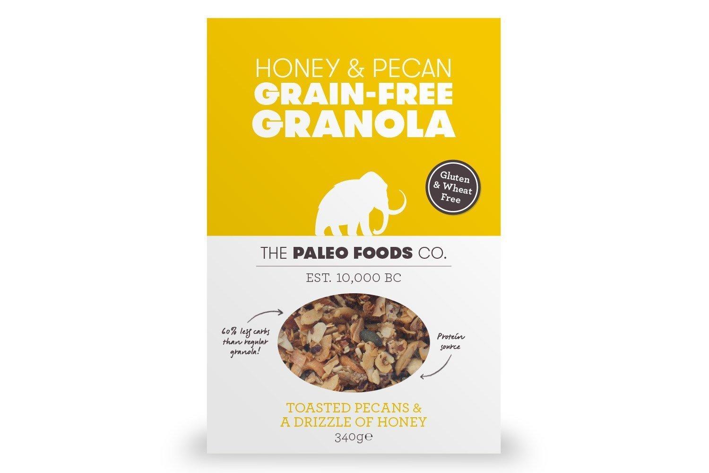 The Paleo Foods Co Honey & Pecan Grain-Free Granola 340g - Pack of 2