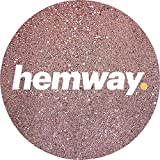 Hemway Rose Gold Premium Glitter Multi Purpose Dust Powder 100g/3.5oz for use with Arts & Crafts Wine Glass Decoration Weddings Cards Flowers Cosmetic Face Eye Body Nails Skin Hair