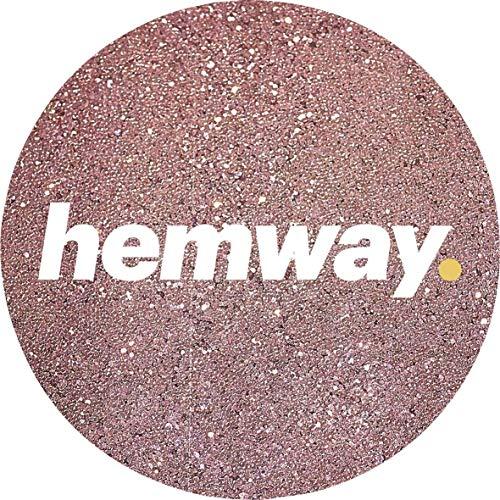 Hemway Rose Gold Premium Glitter Multi Purpose Dust Powder 100g/3.5oz for use with Arts & Crafts Wine Glass Decoration Weddings Cards Flowers Cosmetic Face Eye Body Nails Skin Hair by Hemway