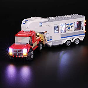 BRIKSMAX Led Lighting Kit for City Pickup & Caravan - Compatible with Lego 60182 Building Blocks Model- Not Include The Lego Set