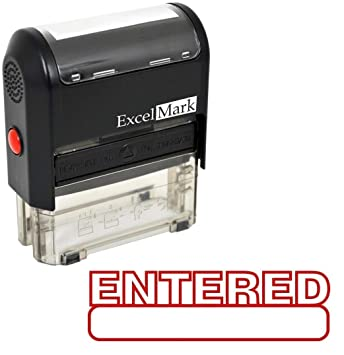 ExcelMark ENTERED Self Inking Rubber Stamp