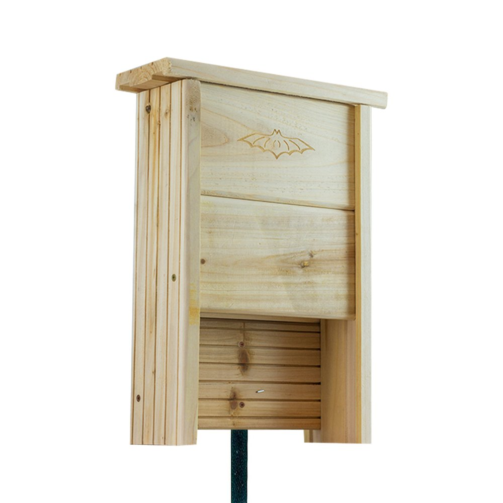 "Houseables Bat House Kit, Box Shelter, 1"" Thick, Wooden, Fir Wood, Small, Nesting Chamber, Outdoor Mounting, on Trees, Homes, Poles, Houses 12 Bats, Bathouses Attractant, Control Pests Naturally"