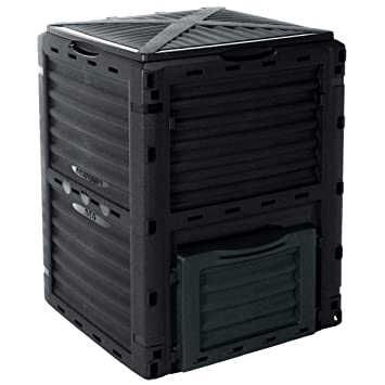 Best4Garden – Compostador, color verde jardín Compost Bin, 300 L, 83 x 61