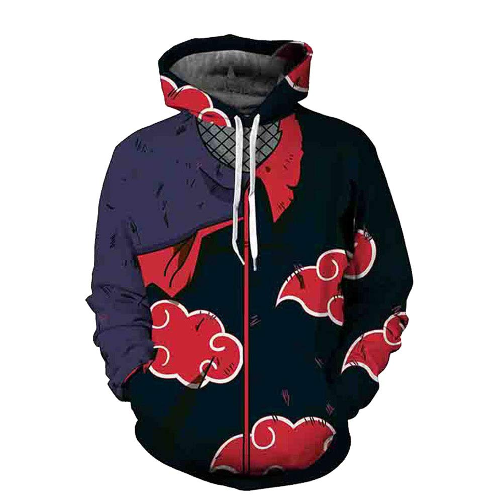 Amazon com beller naruto anime sweatshirt hooded pullovers zipper jackets clothing