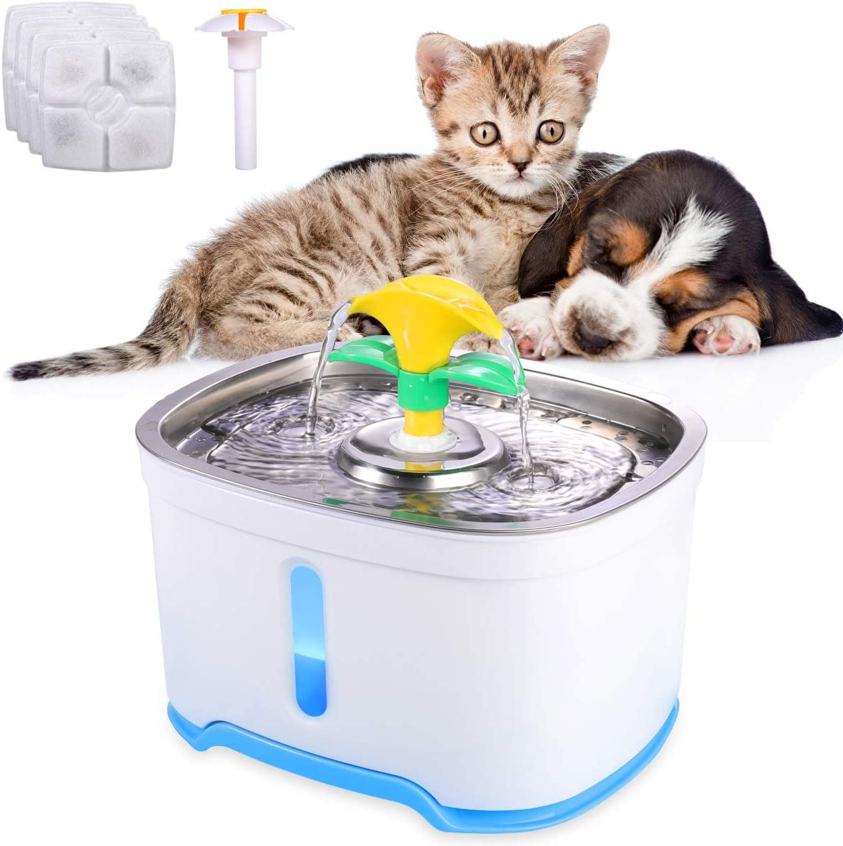 Beacon Pet Popular standard Water Fountain 84oz In stock Stai Automatic 2.4L Cat