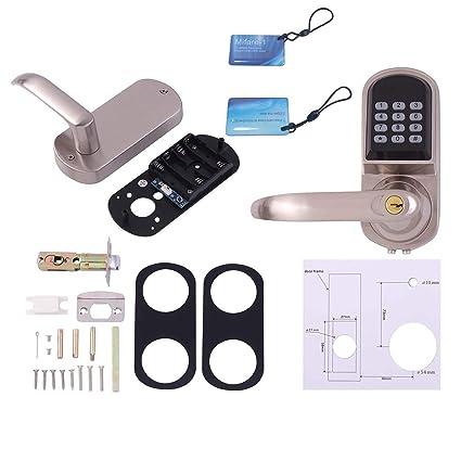OS8015MF electrónica sin llave Cerrojo cerradura de puerta de desbloqueo con el código de bloqueo del