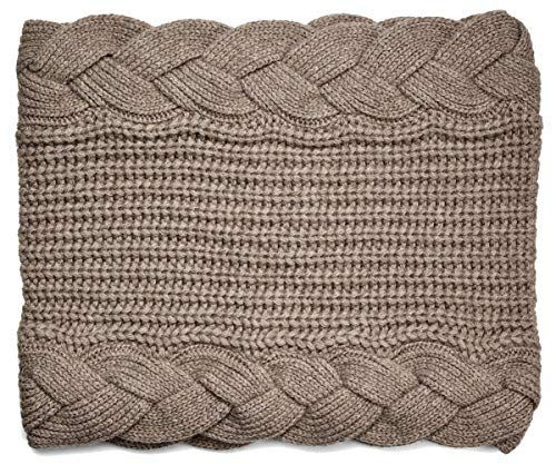 UGG Women's Braided Knit Snood Stone Heather One - Ugg Wrap