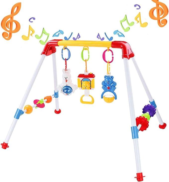 Egosy Arco de Juegos con sonajero y Actividades Clips universales compatibles con Cualquier Cochecito Carrito o Silla de autom/óvil para beb/és